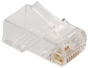 Steren Modular Plug 8C for Cat5e with Round Opening - 10 Pack