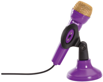 Steren Base Microphone for Girls Purple
