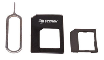 Steren Sim Card Adaptor Kit Nano/Micro/Full Size with Sim Tray Key