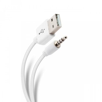 """Steren 2Ft. USB to 1/8"""" Cable for iPod Shuffle 3G 4G & More"""