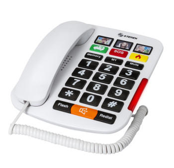 Steren's Large Button Telephone with Visual Light Indicator