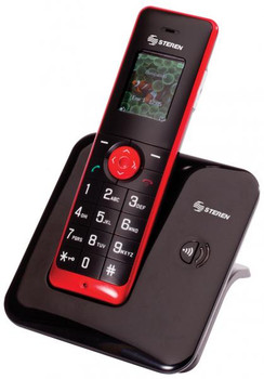 Steren DECT 6.0 Cordless Phone with Caller ID and Large Color LCD