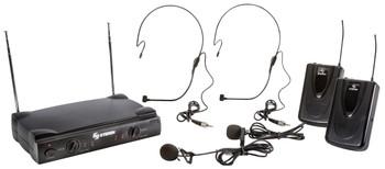 Steren 2 Wireless VHF Headset Microphones