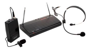 Steren Professional Wireless (VHF) Lavalier Microphone Lapel & Headset