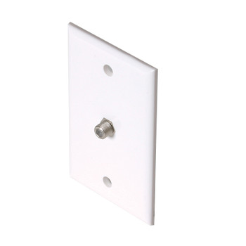 """Steren Coaxial Wall Jack - """"F"""" type connector Standard White"""