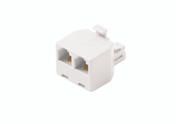 Steren Duplex In-Wall Adapter 6-Conductor White