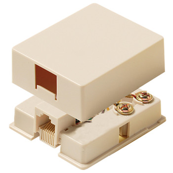 Steren Surface Mount Jack 6-Conductor Ivory