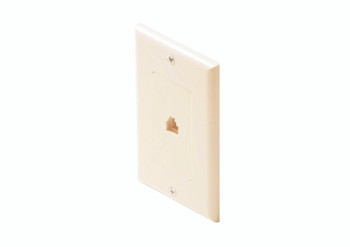 Steren Telephone Wall Jack 6-Conductor Ivory