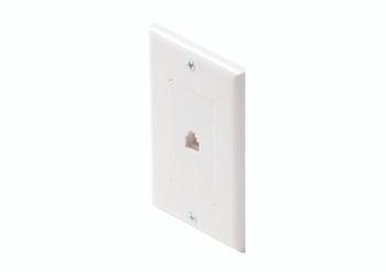 Steren Standard 6C Telephone Wall Plate Single White