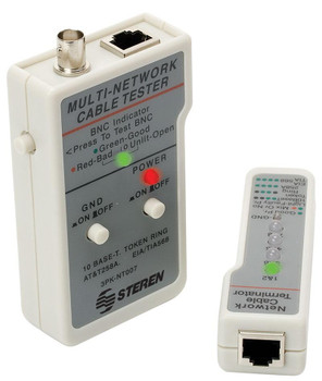 Steren Network Cable Tester for Category-5 UTP FTP STP and BNC Coaxial Cables