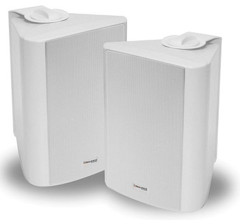 """Steren Sequence Essentials-Series 5.25"""" Outdoor Speakers Weatherized - White (pair)"""