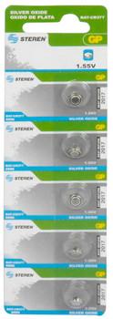 Steren #377 Silver Oxide Battery 5 Per Card