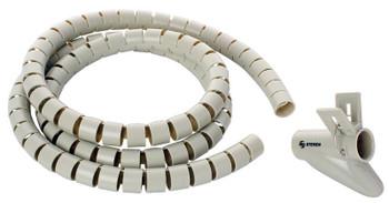 Steren 6.5-ft. Black Flexible Plastic Spiral Cable Organizer Set - Gray