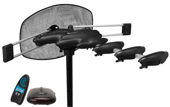 HDTV Aerial Antenna with Rotor Booster and Remote Control