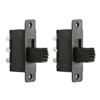 Steren SPST 2P 127VAC 0.5A Sub-Mini Slide Switch - 2 Pack