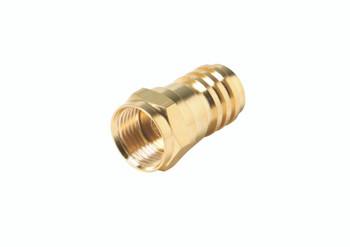 Steren 10ct F Hex Crimp Connector RG6 Gold