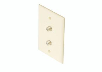 Steren Standard 2-TV Wall Plate Light Almond
