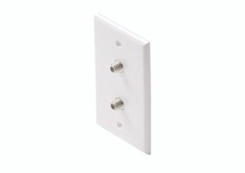 Steren Standard 2-TV Wall Plate White