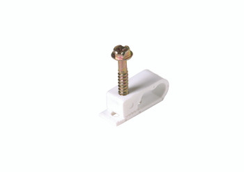 Steren 10ct Grip-Clip Dual Cable Mounting Clip White