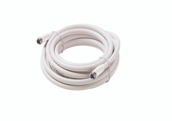 Steren 25ft F-F RG59 Patch Cable White