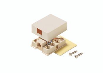 Steren 4C Tel Surface Jack Ivory