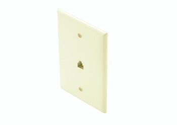 Steren Mid-Sized 4C Tel Wall Plate Light Almond