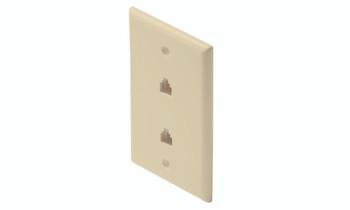 Steren Standard 4C 2-Tel Wall Plate Ivory