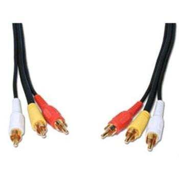 Steren 3ft Composite Audio/Video Cable Black
