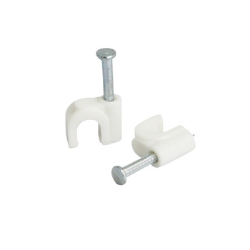 Steren Nail-on Coaxial Cable Clip 20-pack White