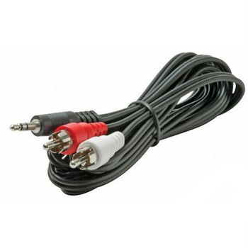 Steren 12ft Stereo Y Adapter Black
