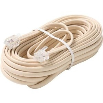 Steren 25ft Telephone Line Cord 6-Conductor Ivory