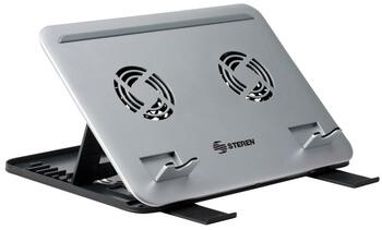 Steren Dual Fan Laptop Cooling System with Adjustable Angles
