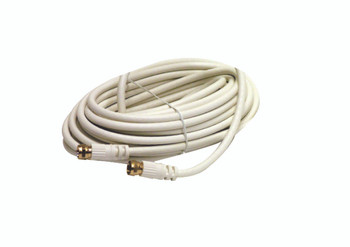 Steren 25ft RG59 Coax with F Connectors White