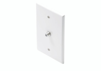 Steren Mid-Sized TV Wall Plate White