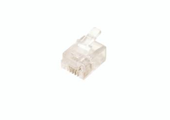 Steren 10ct Modular 6x4 Flat/Stranded RJ11 Plug UL
