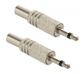 Steren 3.5mm Mono Audio Plug Metal Handle - 2 Pack