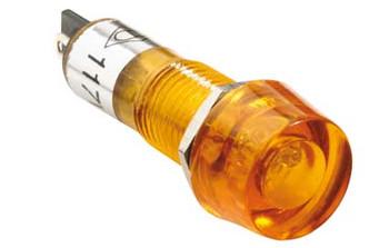 Steren 117 VAC round neon yellow light  bulb