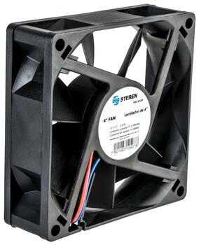 Steren Plastic Fan 4in General Purpose 12VDC