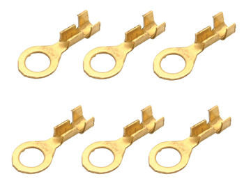 Steren 0.17 in  22 - 18 AWG ring tongue un-insulated brass terminal - 6 Pack