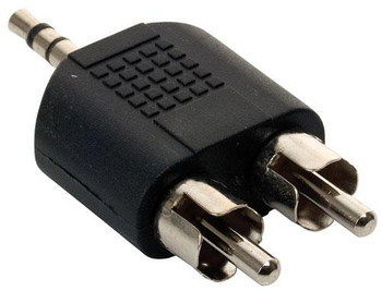 Steren 2 RCA Plug to 3.5mm Stereo Plug Adapter
