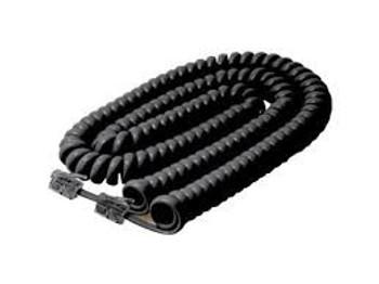Steren 25ft Coiled Handset Telephone Cord Black
