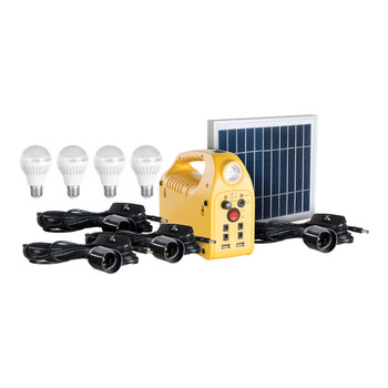Solar Power Station With 4 Led Spotlights