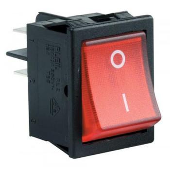 Steren DPST Rocker Switch - W/LED
