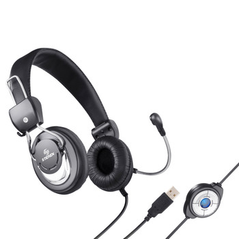 USB Over the head Multimedia Headphone with Microphone