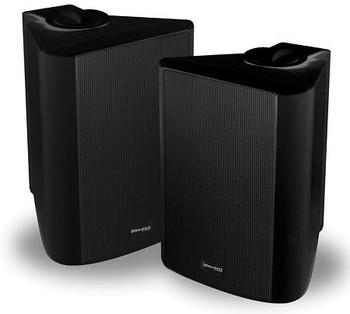 Steren Sequence 5.25in Outdoor Speakers Weatherized, Black