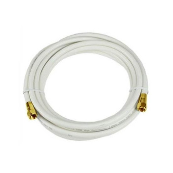 Steren Steren 6ft F-F RG6 cULus Cable White - 205-415WH