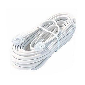 Steren Steren 7ft 4C Modular Flat Telephone Line Cord White