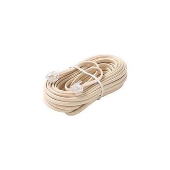 Steren Steren 25ft 4 Wire 4C Modular Flat Telephone Line Cord Ivory