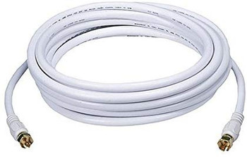 Steren 50ft RG59 Cable with F connectors White