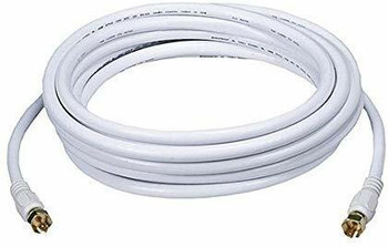 Steren Steren 100ft RG59 Cable with F connectors, White